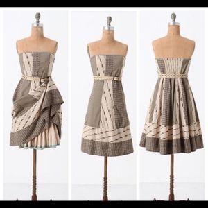 Edme & Esyllte Walk with Me strapless patch dress